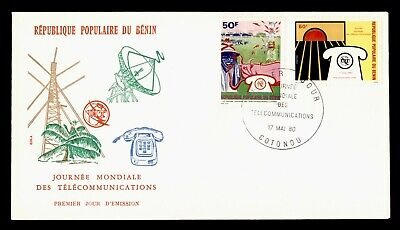 DR WHO 1980 BENIN FDC ITU WORLD TELECOMMUNICATIONS DAY CACHET COMBO  g18448
