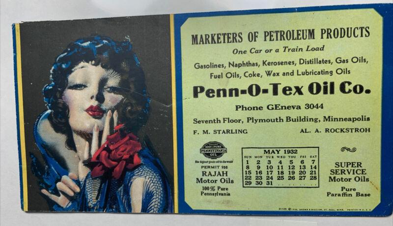 Rolf Armstrong Pin Up Girl Advertising Rajah Oil Gas Blotter Flapper Girl