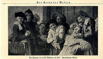 Der Zahnarzt (Braunschweiger Galerie) J.M.Molenaer um 1650 Print v.1924