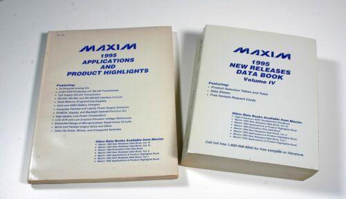 1995 MAXIM Data Books - 2 Books
