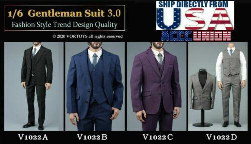 VORTOYS 1/6 V1022 Gentleman Suit Set For 12