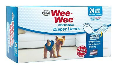 Four Paws Wee-Wee Dog Diaper Garment Pads, 24 Pack Dog Diaper Garment