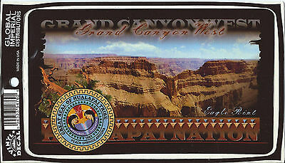 Global Imperial Grand Canyon West Great Seal of Hualapai Tribe Vinyl Decal NEW