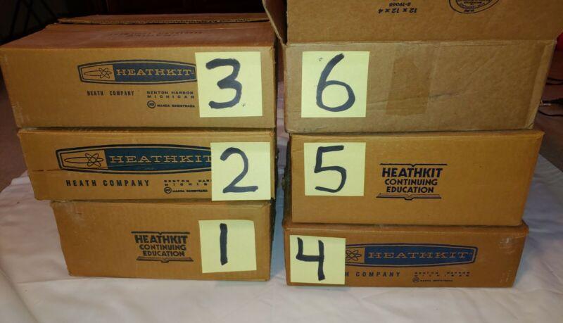 HUGE LOT Vtg Heathkit Educational Systems Units 1970s Gadgets, Binders, Machines