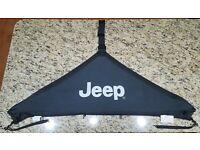 07-17 Jeep Wrangler New T Style Hood Cover Black Jeep Logo Mopar Factory Oem