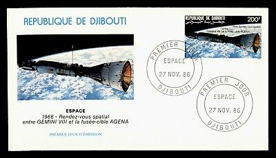 DR WHO 1986 DJIBOUTI FDC SPACE CACHET  g20559