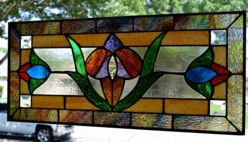 """Elm Street"" Victorian Stained Glass Window"