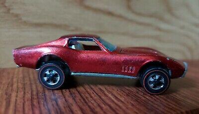 Vintage Original Hot Wheels 1968 Redline Custom Corvette Red