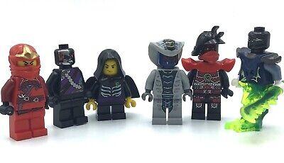LEGO LOT OF 6 NINJAGO MINIFIGURES RATTLA SERPENTINE SNAKE LLOYD KAI NINDROID FIG