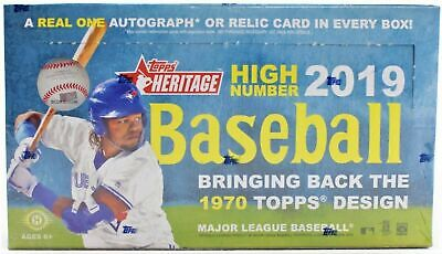 2019 TOPPS HERITAGE HIGH NUMBERS  BASEBALL FACTORY SEALED HOBBY BOX  FRESH CASE