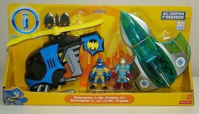 Imaginext Batman Batcopter & Mr Freeze Jet DC Super Friends NEW Fisher Price