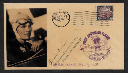Amelia Earhart collector envelope w original period 1929 stamp *OP577