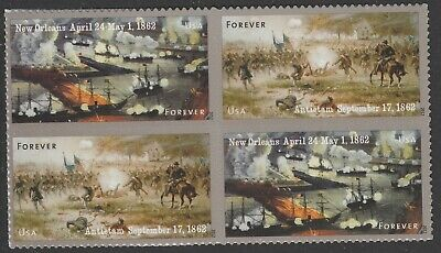 US 4664-4665 4665a Civil War 1862 Forever Block 4 Stamps MNH 2012 - $6.60