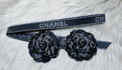 New 2020 Authentic CHANEL Holiday Edition 2 Large Camellias Ribbon Lot Box/Bag