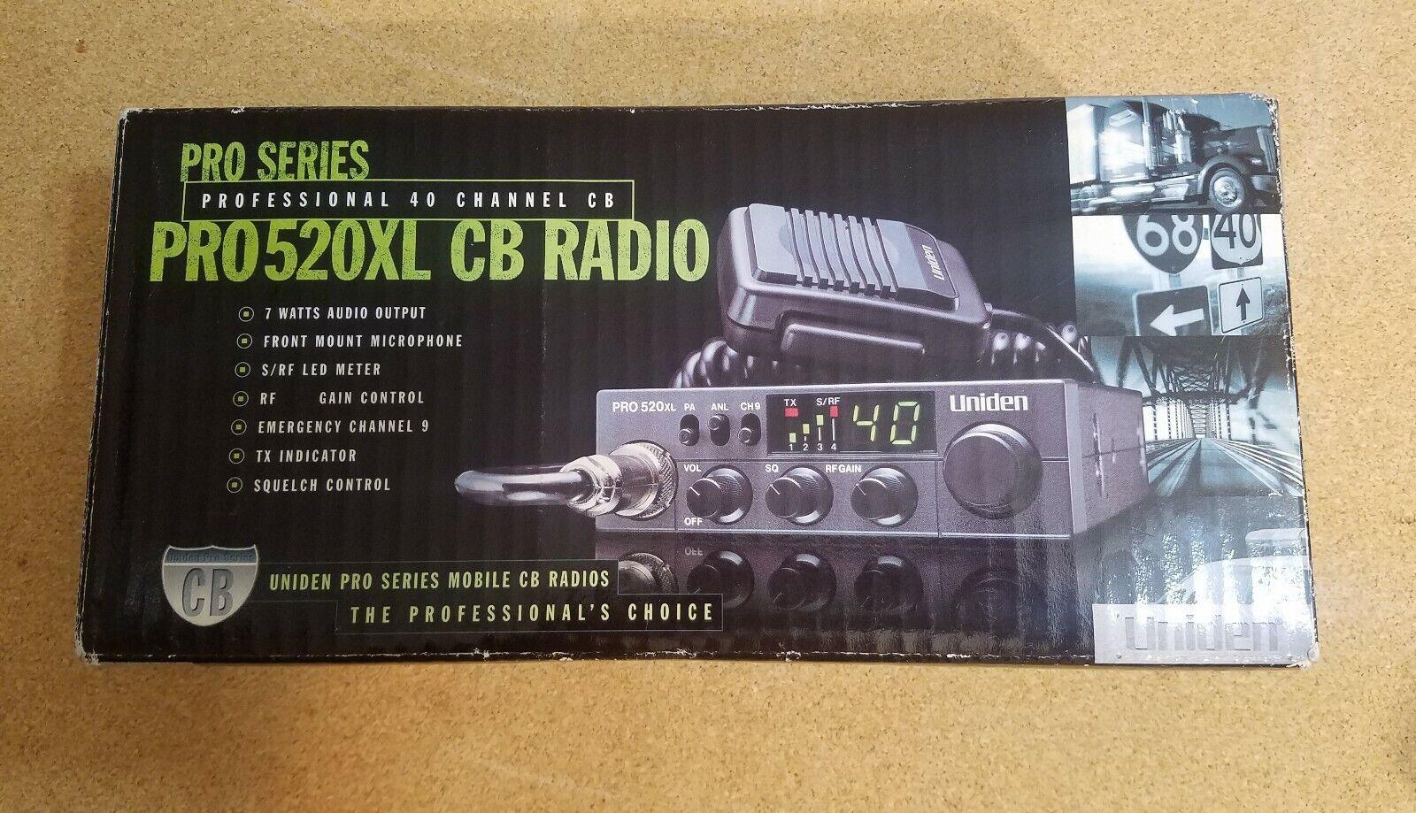 PRO520XL NEW Uniden Pro Series 40-Channel CB Radio, Compact
