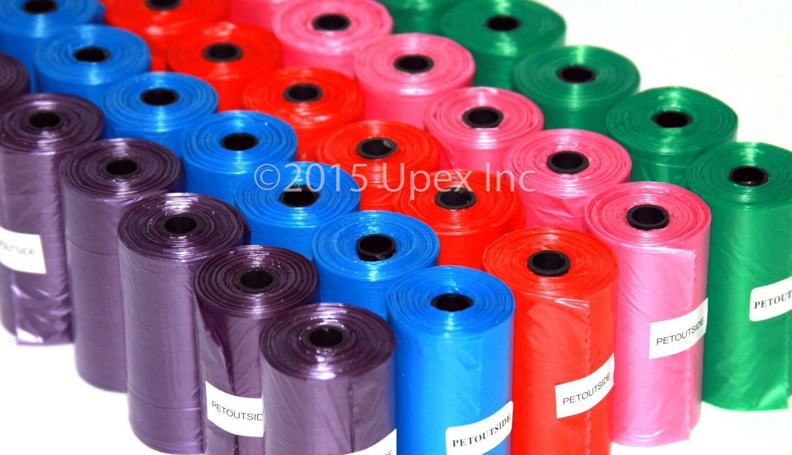 1200 Color DOG PET WASTE POOP BAGS Refill Rolls With Core Pi