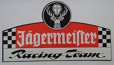 Aufkleber JÄGERMEISTER RACING TEAM Motorsport Oldtimer Youngtimer 80er Sticker