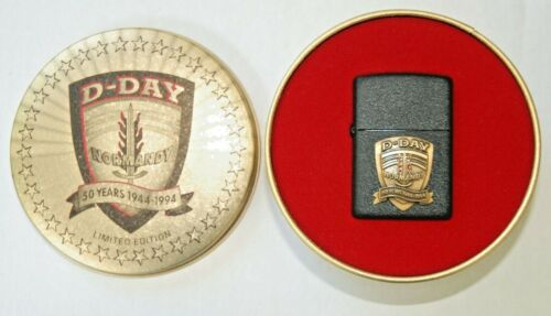 ZIPPO COMMEMORATIVE D-DAY NORMANDY LIGHTER 50 YEARS 1944-1994 IN TIN LTD ED NEW
