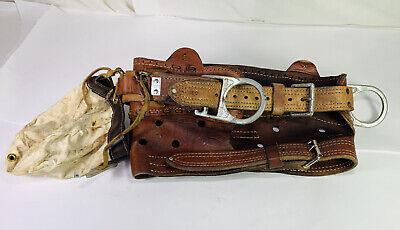 Bashlin Size D24 Model 88b Lineman Leather Rest A Back Climbing Belt
