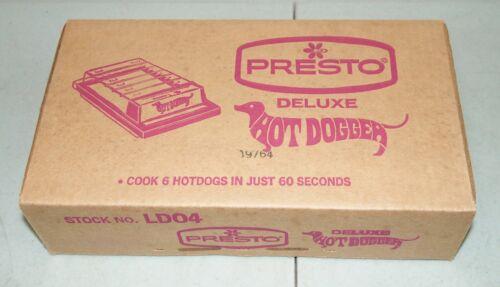 """New!! Sealed!! NOS!! Vtg PRESTO Deluxe """"HOT DOG Electric Hot Dog COOKER"""" #LD04"""