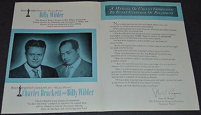 Billy Wilder's THE LOST WEEKEND 1946 ORIGINAL 12x18 MOVIE TRADE AD! RAY MILLAND!