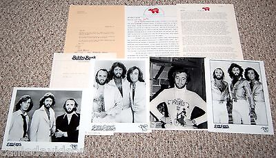 BEE GEES 1970's Stayin' Alive 8pc Group Photo Press Kit Lot Barry Gibb