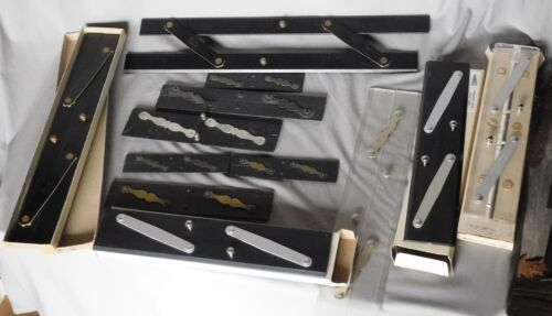 Collection 12 Parallel Navigational Rulers protractors ebony Alvin Mayline Perko