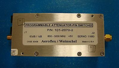Weinschel 63db Programmable Attenuator 0.8-3ghz Pn 101-2070-2 4226-63 Sma
