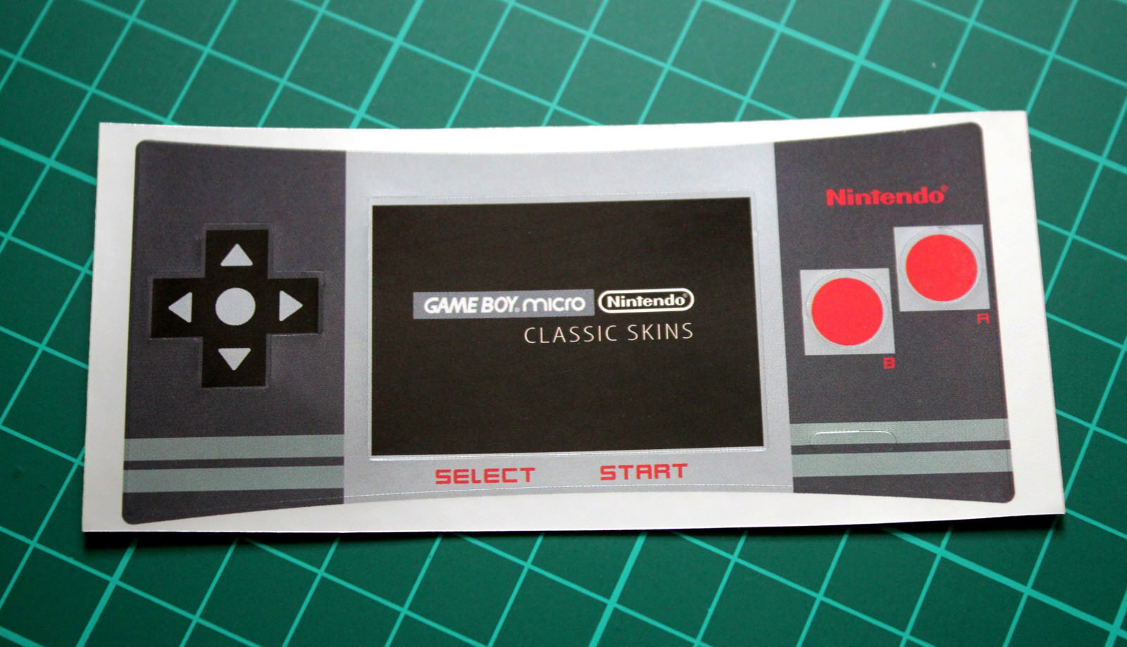 Game Boy Micro Faceplate Sticker Skin (NES Design)