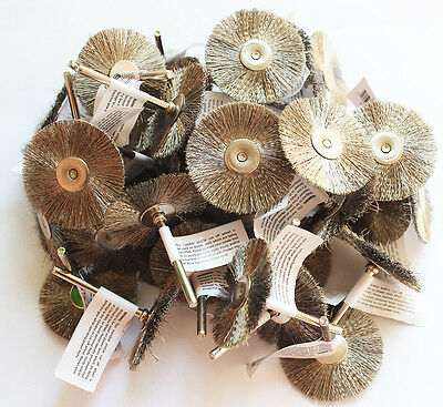 36pcs Wire Brush Wheel 1.5 Fits Rotary Tool For Cleaning Removal