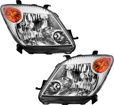 New Headlights Headlamps Both Driver & Passenger Side Pair for 2006 Scion xA ()