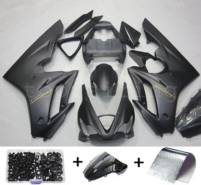 Black Fairings Kit for Triumph Daytona 675 2006-2008 2007 ABS Body Work + Bolts