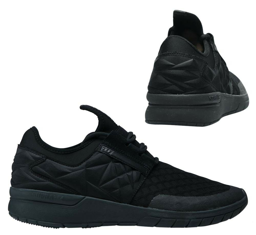 Supra Flow Run Evo lacets homme Casual Running Baskets Noir 08342 001 D92