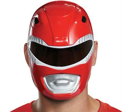 ADULT RED POWER RANGER CLASSIC VACUFORM FACE MASK COSTUME DG67414 (Red Power Ranger Mask)