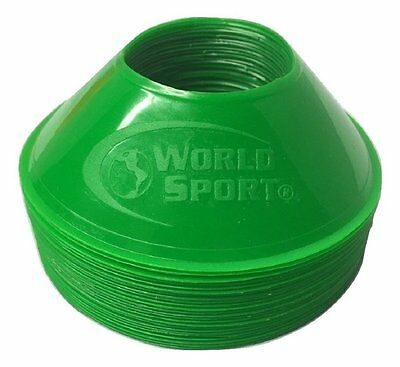 Mini Small set 24 Disc cones GREEN Training equipment field marking dots