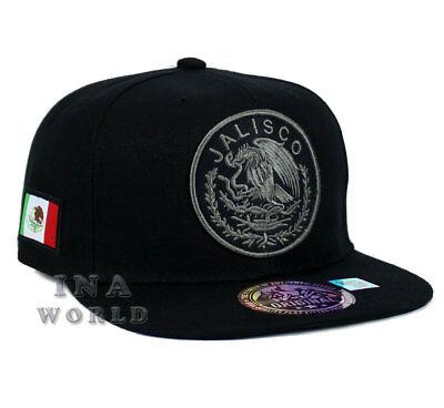MEXICAN hat MEXICO Federal Logo State Snapback Baseball cap- JALISCO /Grey Logo