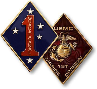 NEW USMC U.S. Marine Corps 1st Marine Division Challenge Coin  - Marine Division Challenge Coin