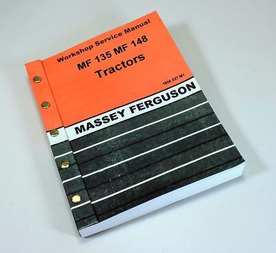 MASSEY FERGUSON MF 148 135 TRACTOR SERVICE REPAIR SHOP MANUAL WORKSHOP, used for sale  Shipping to India