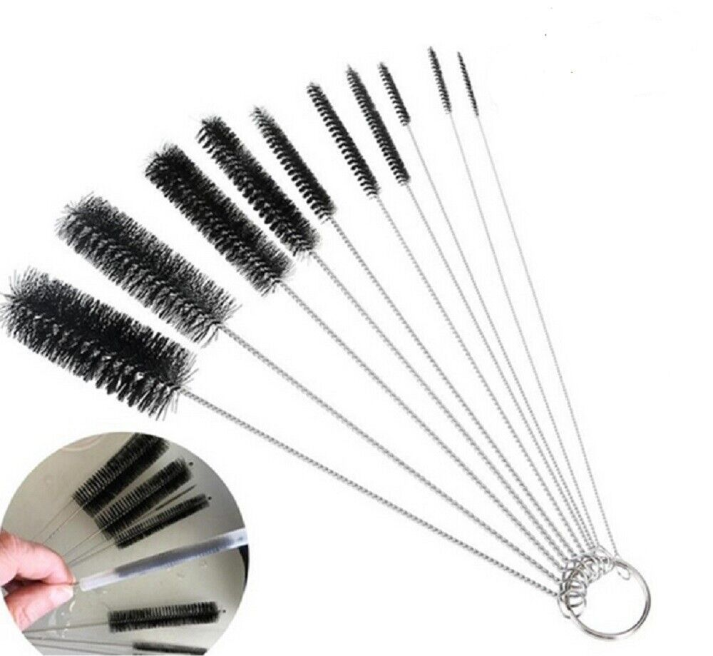 10Pcs Nylon Straw Cleaners Cleaning Brush Drinking Pipe Cleaners Stainless Steel Cleaning Products