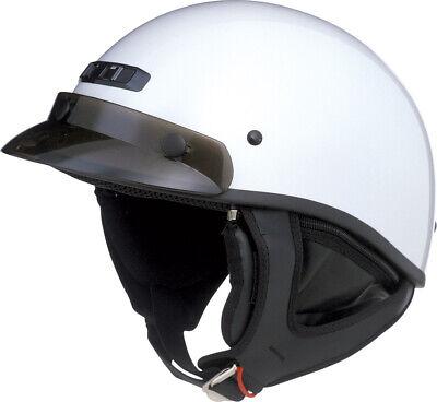 GMAX GM35 Full Dress Motorcycle Half Helmet (Pearl White) M (Medium)
