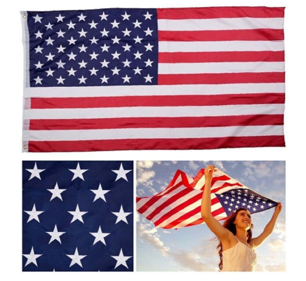 3'x5′ FT American Flag Patriotic USA US United Stripes Stars Brass Grommets US Collectibles