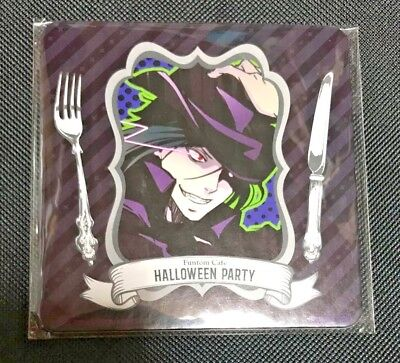 Anime Halloween Black Butler (Black Butler Coaster Sebastian Michaelis Funtom Cafe Halloween Toboso Anime)