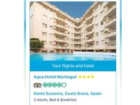 Holiday to costa Blanca for 3 people