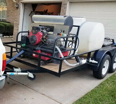 3500 Psi 5.5 Gpm 16 Hp Vanguard Hot Water Pressure Washer Trailer Rig