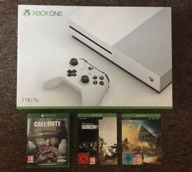 Xbox One S - 1TB Hard drive + 3 games . Basically brand new!