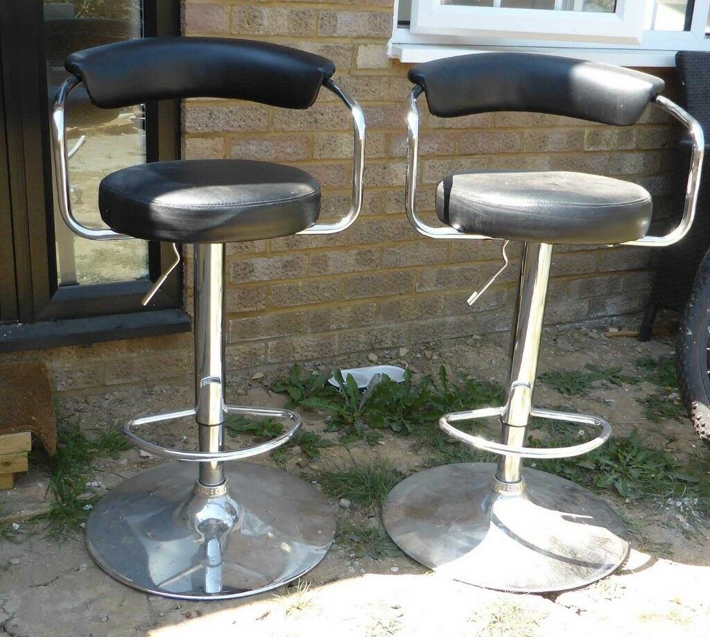sports shoes 47686 57a68 Two Bar Stools ARGOS - Adjustable, Chrome and Black - Table Stools Chairs  Seats | in Stevenage, Hertfordshire | Gumtree