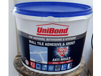 NEW UniBond Wall Tile Adhesive & Grout (White) 12.8kg Triple Protection