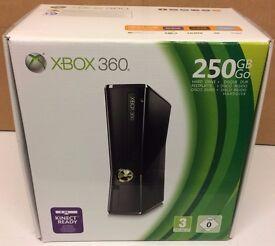 MASSIVE LOT - Microsoft Xbox 360 Slim 250GB Console, KINECT, INFINIITY + 42 GAMES.