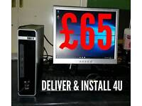 PC DESKTOP COMPUTER. DELIVER AND INSTALL FOR YOU