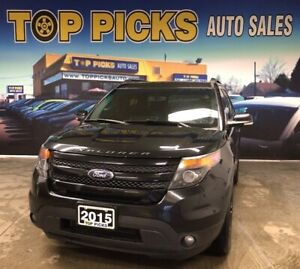 2015 Ford Explorer Sport, Panoramic Sunroof, Leather, Navigation